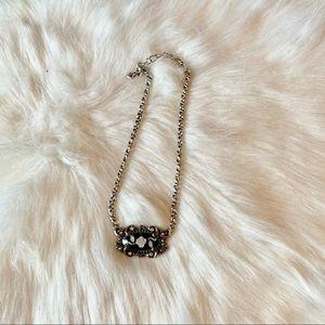 Brighton Black and White Rose Necklace